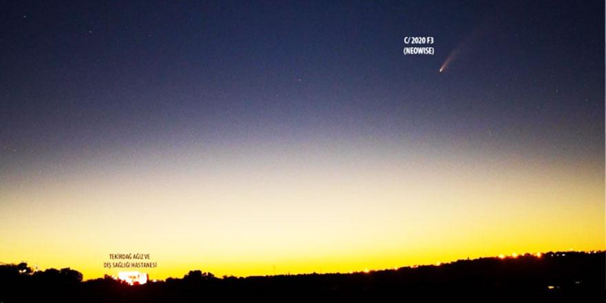 7 bin yılda bir görülen kuyruklu yıldız Tekirdağ semalarında