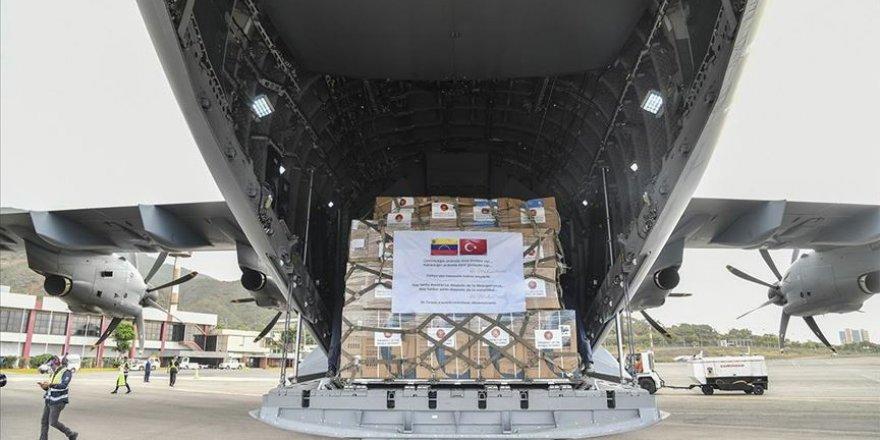 Venezuela'ya tıbbi yardım malzemesi gönderildi