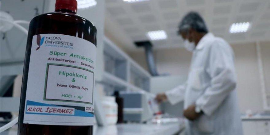 Yalova'da üretilen dezenfektanın kullanımına yerleşkede başlandı