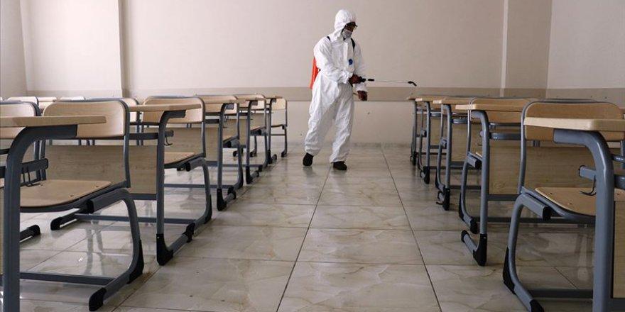 Okullarda tüm dezenfeksiyon çalışmaları tamamlandı