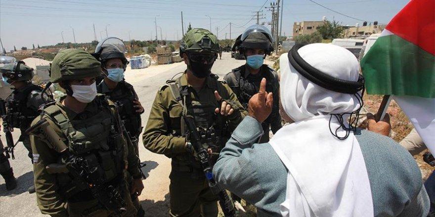 Batı Şeria'da Yahudi yerleşim birimleri protestosuna İsrail güçlerinden müdahale