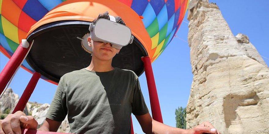 Kapadokya'da 'sanal balon turu' düzenleniyor
