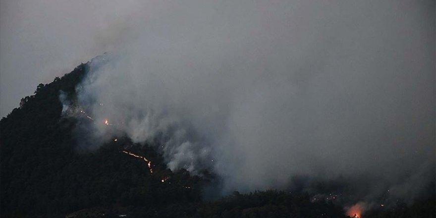 Manisa'da çıkan orman yangını kısmen kontrol altına alındı
