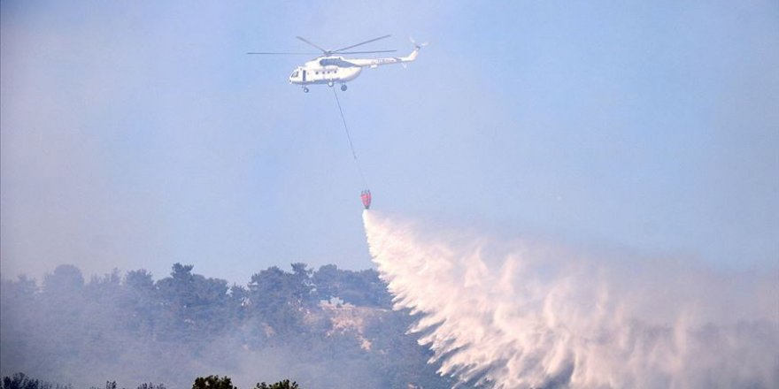 Çanakkale'de çıkan orman yangını kontrol altına alındı