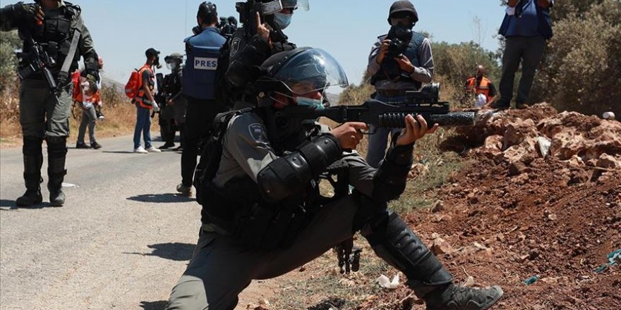 Batı Şeria'da İsrail askerlerinden göstericilere müdahale