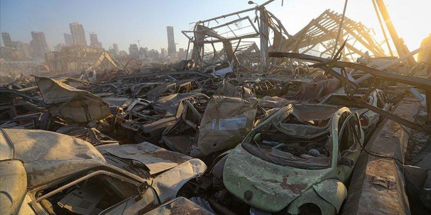 Beyrut Limanı'ndaki patlamada 3 bin 972 bina ve 4 bin 214 araç zarar gördü