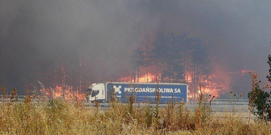 Bulgaristan sınırında çıkan yangın kısmen kontrol altına alındı