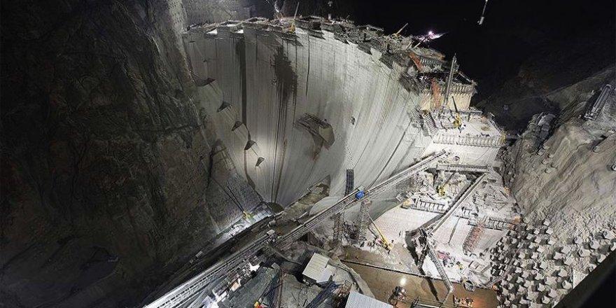 Yusufeli Barajı'nın tamamlanmasında 50 metre kaldı