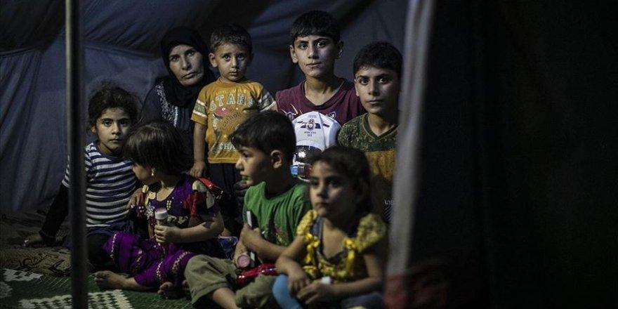 11 kişinin 9 metrekarelik çadırda hayat mücadelesi
