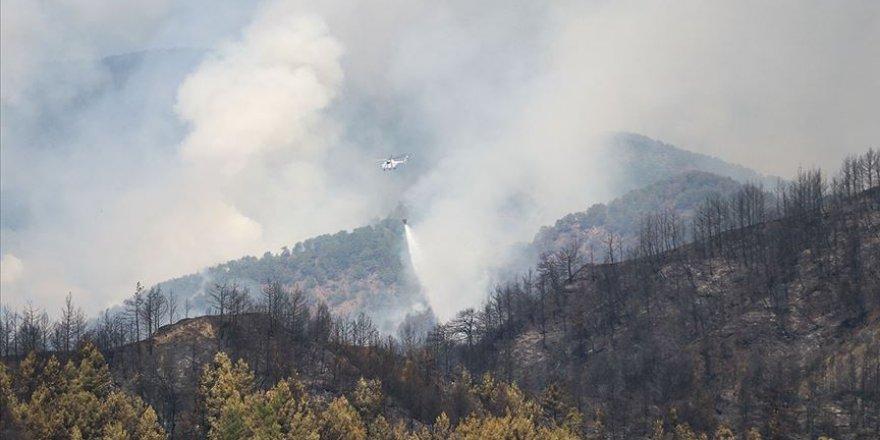 Hatay'daki orman yangınını söndürme çalışmalarına TSK'dan destek