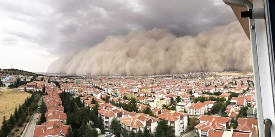 Ereğli ve Polatlı'daki toz fırtınasının maddi sebebi çölleşme ve erozyon