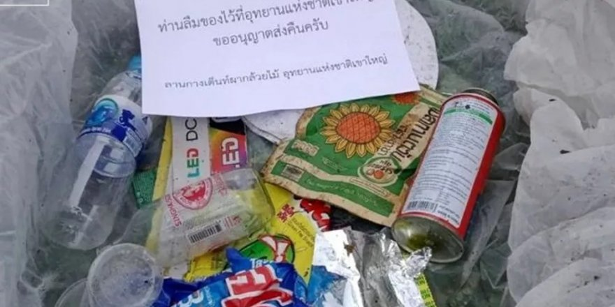 Tayland'da yere atılan çöpler sahiplerine geri gönderilecek
