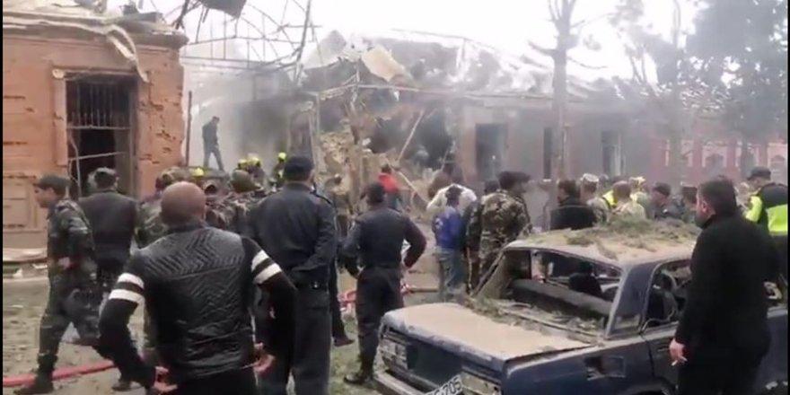 Ermenistan'ın, Azerbaycan'ın 2. büyük kenti Gence'ye düzenlediği bombalı saldırının görüntüleri ortaya çıktı