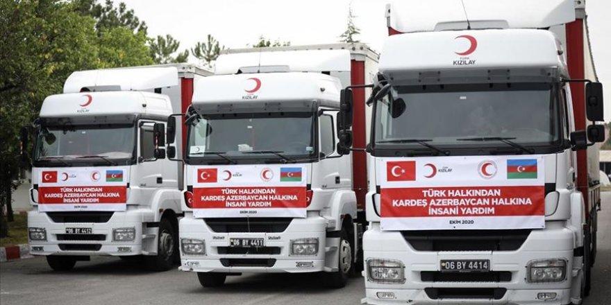 Türk Kızılayın Azerbaycan'a yardım malzemesi götüren konvoyu yola çıktı