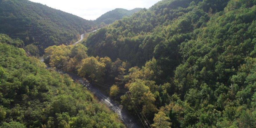 Ganos Dağı eteklerindeki ormanlar sonbaharda görsel şölen sunuyor