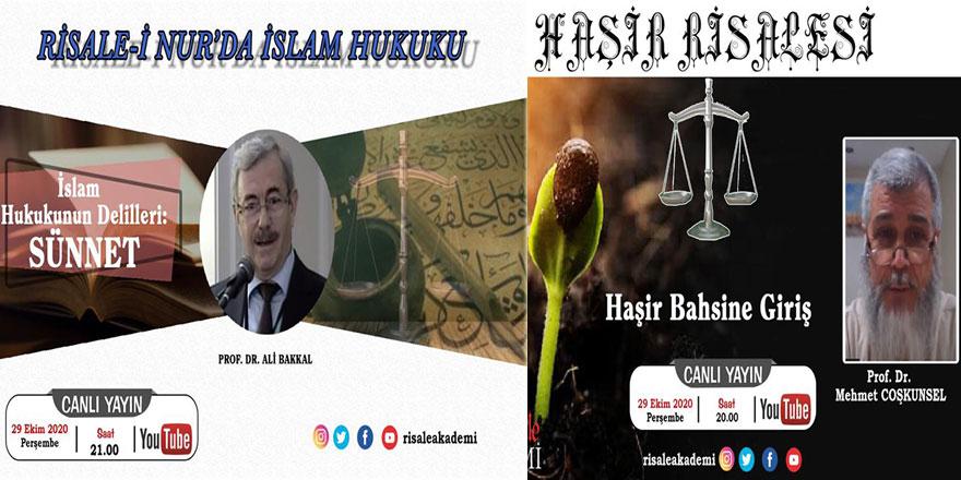 Risale-i Nur'da İslam Hukuku ve Haşir Risalesi-Canlı Yayın