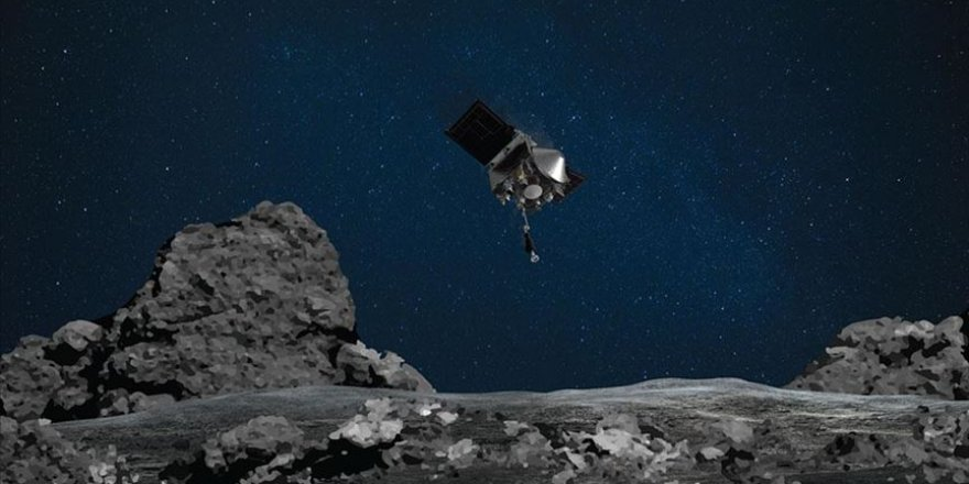 NASA'nın uzay aracı topladığı gök taşı örneklerini dünyaya getirecek kapsüle yerleştirdi