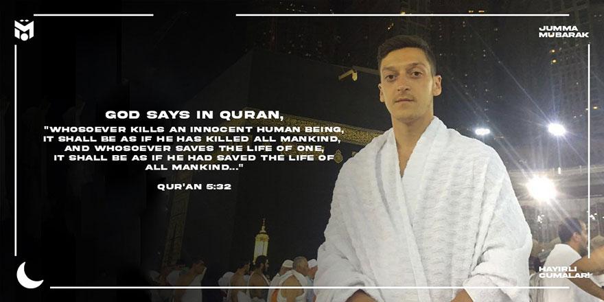 Mesut Özil'den ayetli paylaşım: İslam'da terörün yeri yoktur