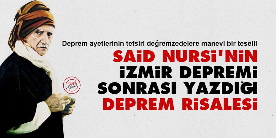 Said Nursi'nin İzmir depreminden sonra yazdığı Deprem Risalesi