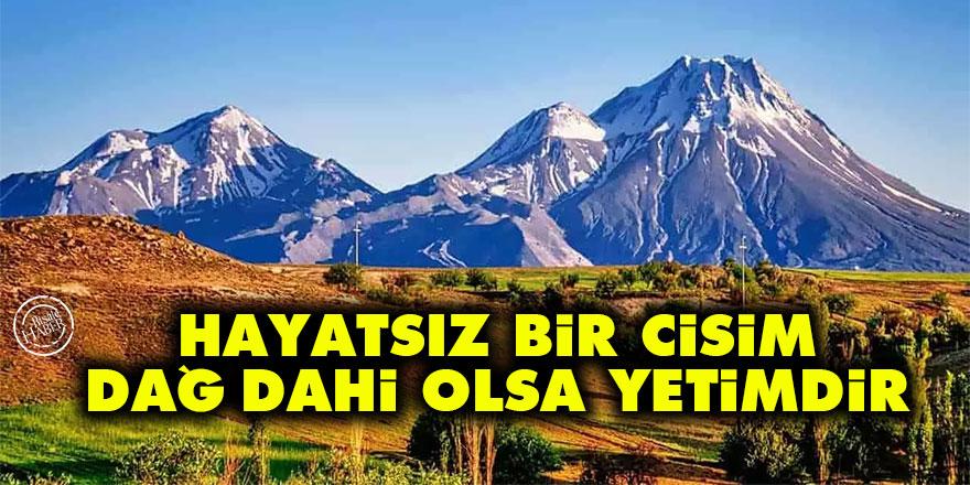 Bediüzzaman: Hayatsız bir cisim, dağ dahi olsa yetimdir