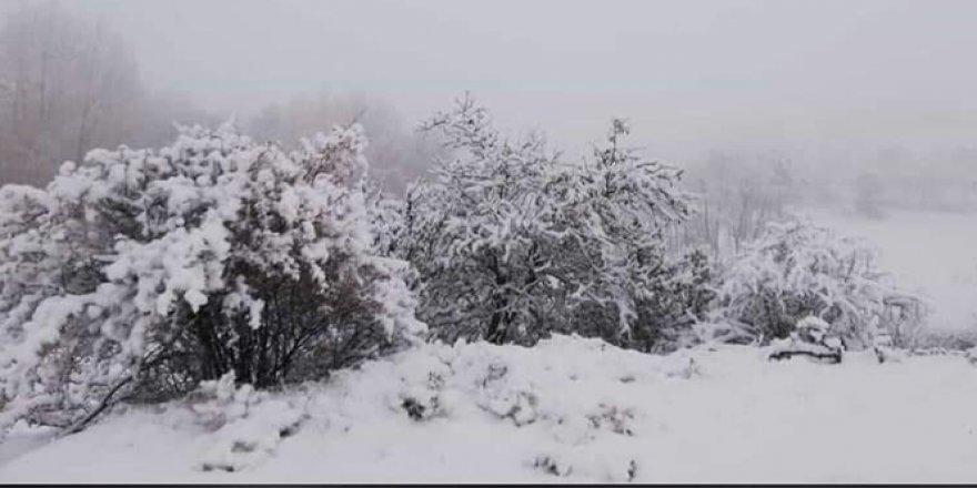 Şuhut'ta mevsiminin ilk karı yağdırıldı