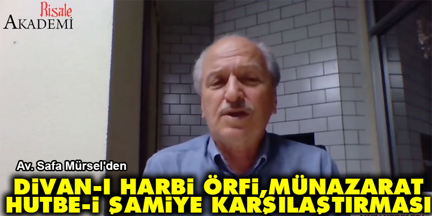 Divan-ı Harbi Örfi, Münazarat ve Hutbe-i Şamiye karşılaştırması