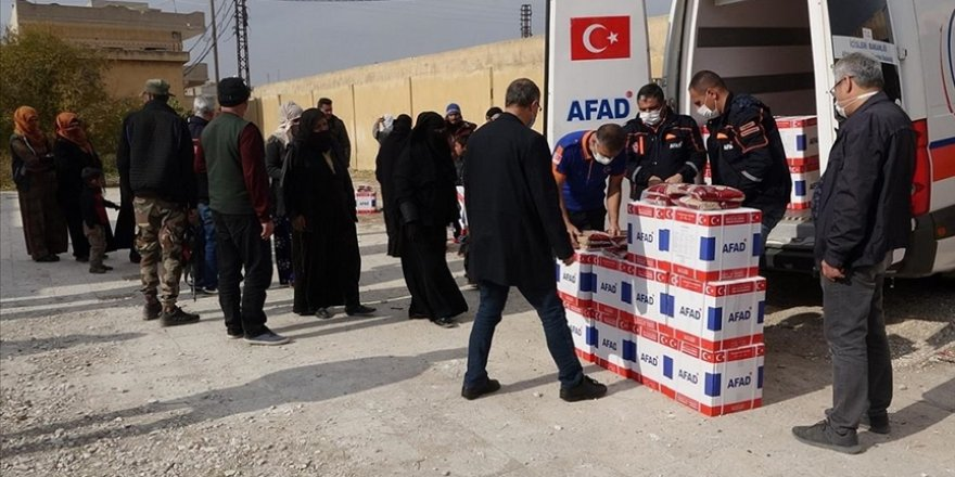 Rasulayn ve Tel Abyad'daki ihtiyaç sahiplerine gıda yardımı