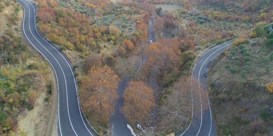 Ganos Ormanı sonbahara renk cümbüşü ile veda ediyor