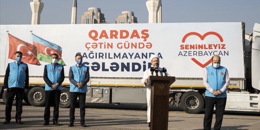 Türkiye Diyanet Vakfı, Azerbaycan'a 6 tır insani yardım gönderdi