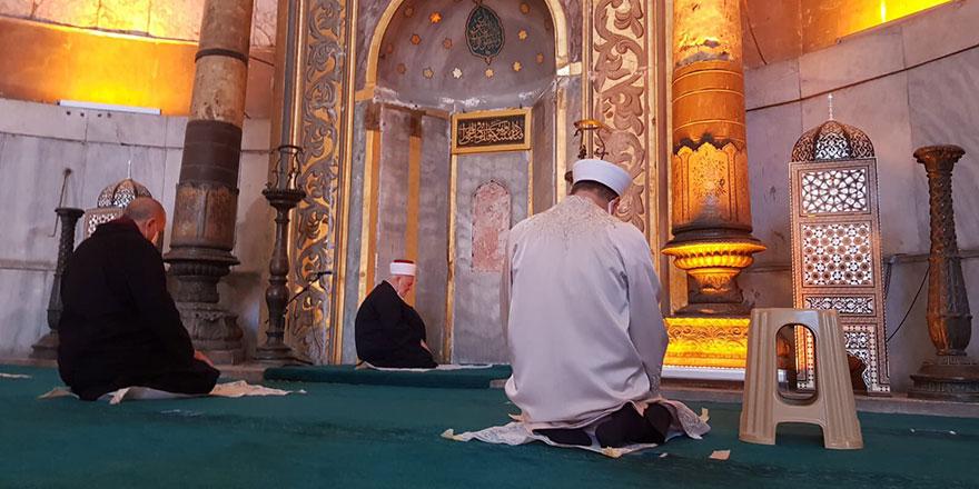 Ayasofya Camiinde Cuma Namazını Mescid-i Aksa imamı kıldırdı