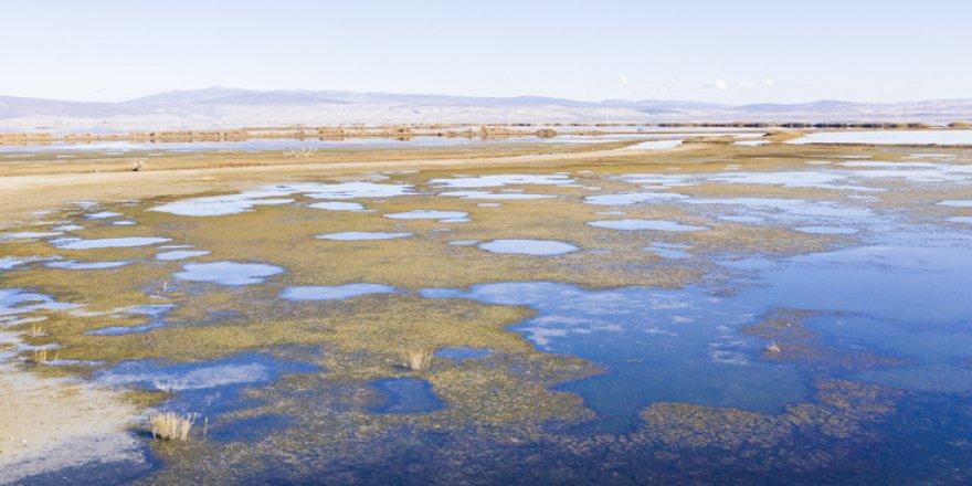 Konya'daki Suğla Gölü'nde sular çekildi