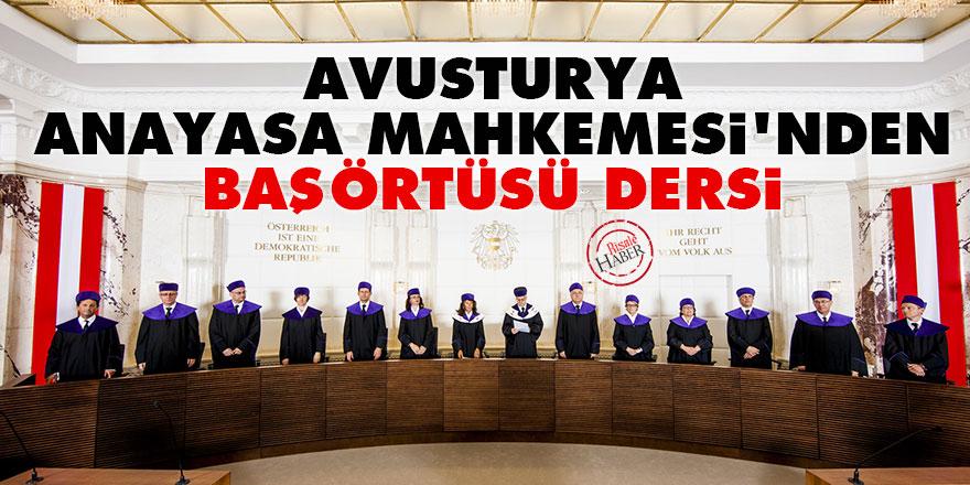 Avusturya Anayasa Mahkemesi'nden başörtüsü dersi