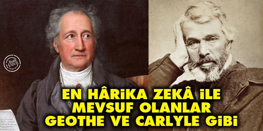 Bediüzzaman: En hârika zekâ ile mevsuf olanlar, Geothe ve Carlyle gibi