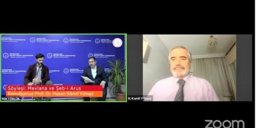 Prof. Hasan Kamil Yılmaz, 'Mevlana ve Şeb-i Arus'u anlattı