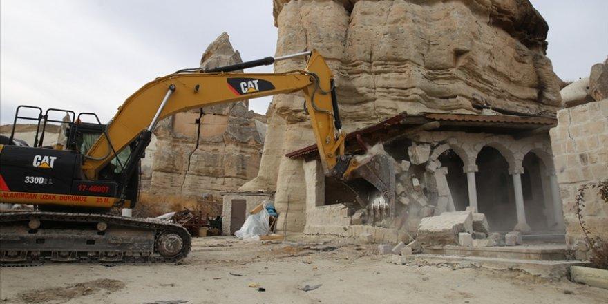 Kapadokya'da son 2 yılda 310 izinsiz yapının yıkımı gerçekleştirildi