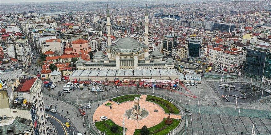 Taksim Meydanı'nda inşaatı süren caminin yapımında sona gelindi