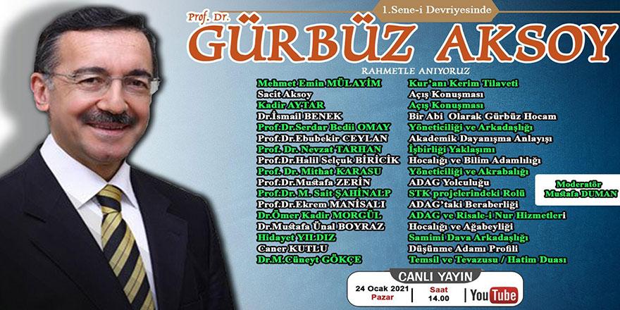 Prof. Dr. Gürbüz Aksoy'u anma program