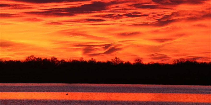 Kızılırmak Deltası'nda gün doğumu Subhanallah dedirtiyor