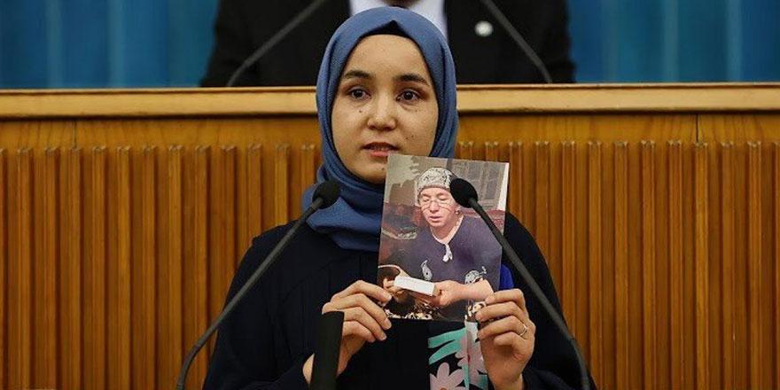 Çin'in Uygur soykırımını TBMM'de haykırdı: Türkiye'ye geldim diye ailem hapse atıldı