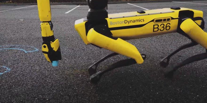 Boston Dynamics'in robotu Spot hünerlerini böyle sergiledi