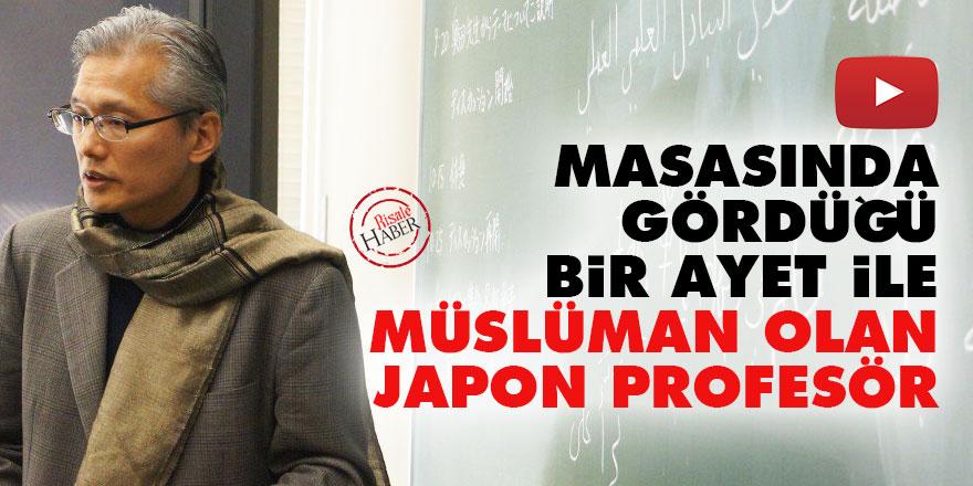 Masasında gördüğü bir ayet ile Müslüman olan Japon Profesör