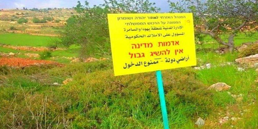 Siyonist işgal devam ediyor: Ramallah'ta 193 dönüm araziye el konuldu