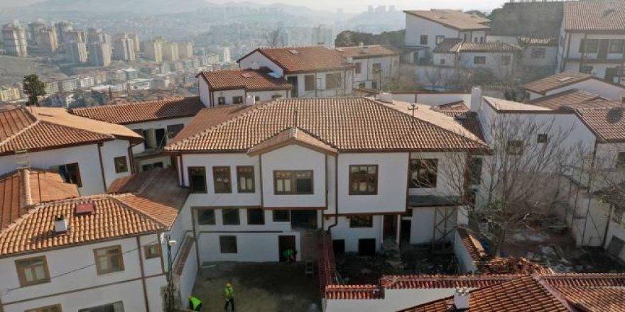 Ankara Kalesi'nin tarihi konutları restore ediliyor