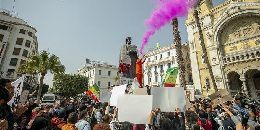 Tunus'ta siyasi ve ekonomik kriz protesto edildi
