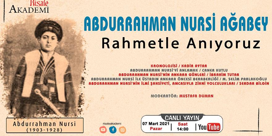 Abdurrahman Nursi'yi anma programı