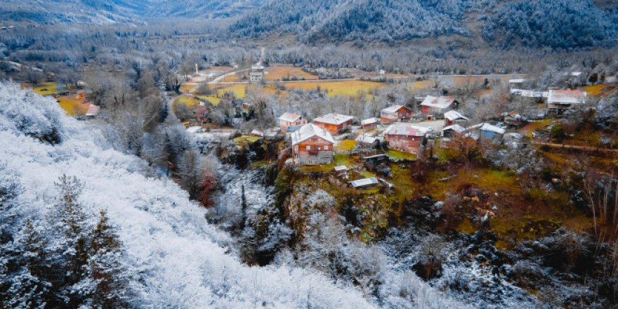 Horma Kanyonu, kar altında ziyaretçilerine eşsiz güzellikler sunuyor