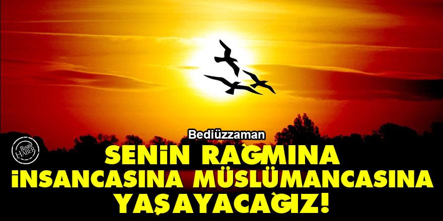 Bediüzzaman: Senin rağmına insancasına, Müslümancasına yaşayacağız!