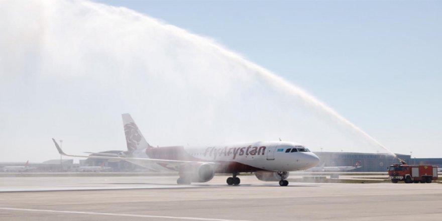 Sabiha Gökçen'den Kazakistan uçuşları başladı