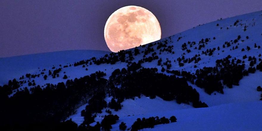 2021'in ilk 'Süper Ay'ından muhteşem kareler