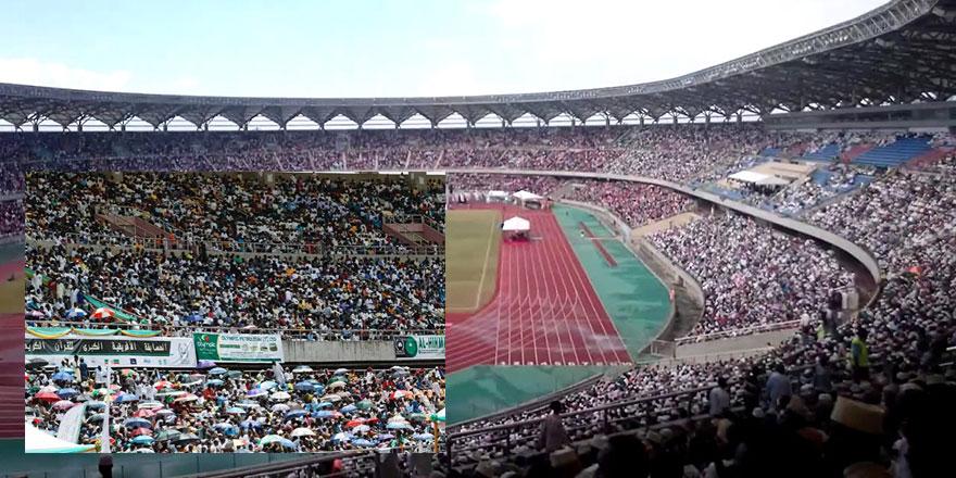 Kur'an-ı Kerim yarışması için stadyuma akın ettiler